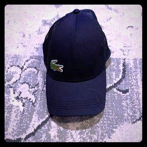 Men's Lacoste Navy adjustable hat. Worn Twice